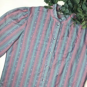 Vintage Levi's Western Wear Stripe Button Down